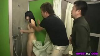 the pervert guys and the cute japanese schoolgirl