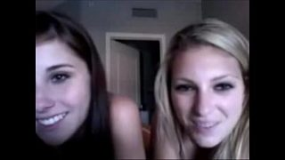two hot horny teens show off on omegle
